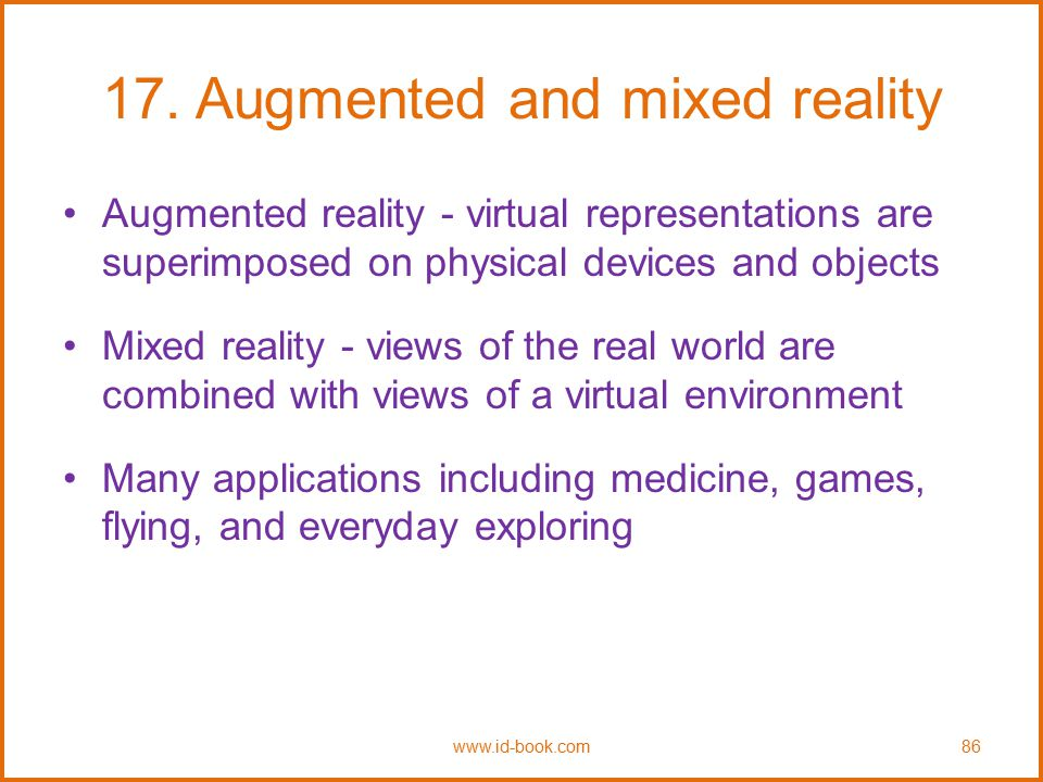 17. Augmented and mixed reality