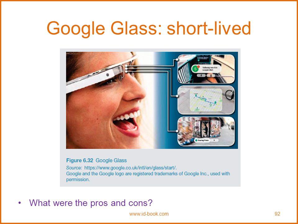 Google Glass: short-lived