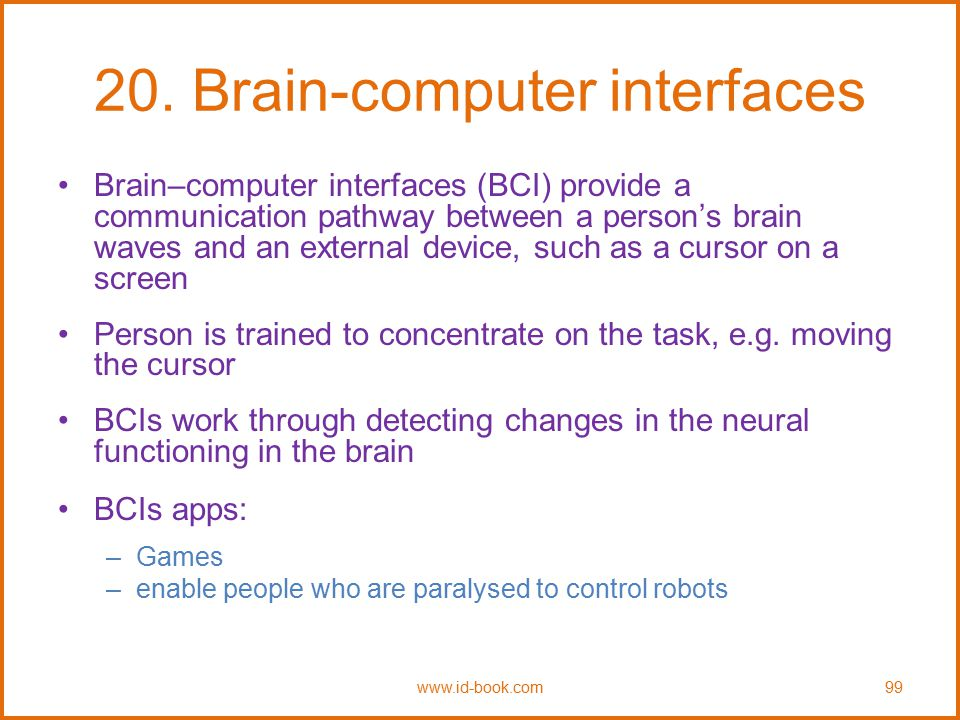 20. Brain-computer interfaces