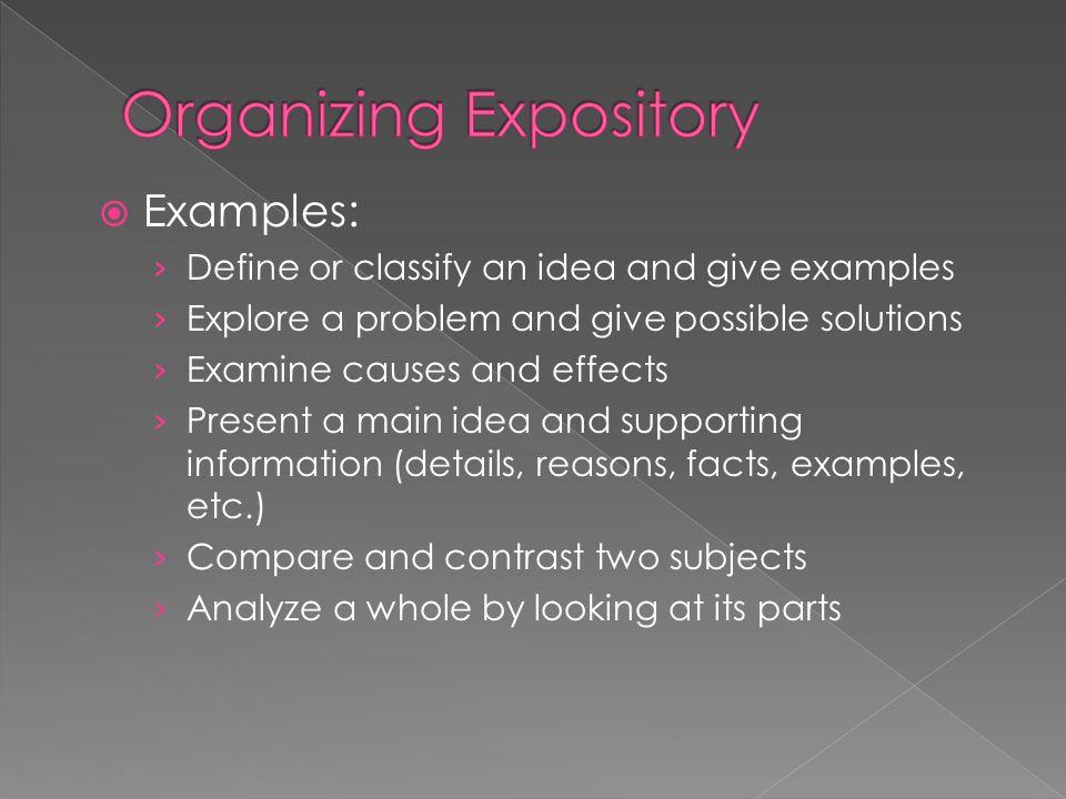 Organizing Expository