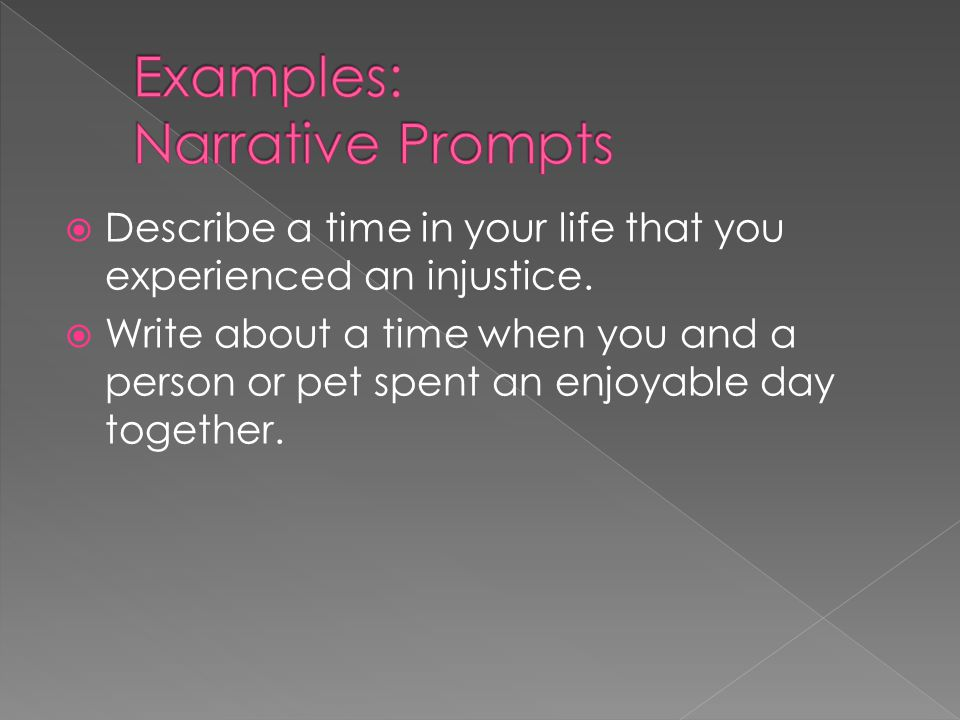 Examples: Narrative Prompts