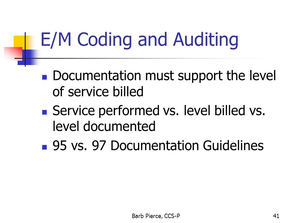 E/M Coding and Auditing
