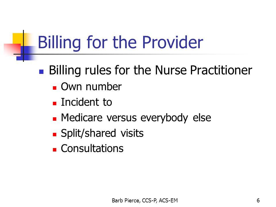 Billing for the Provider