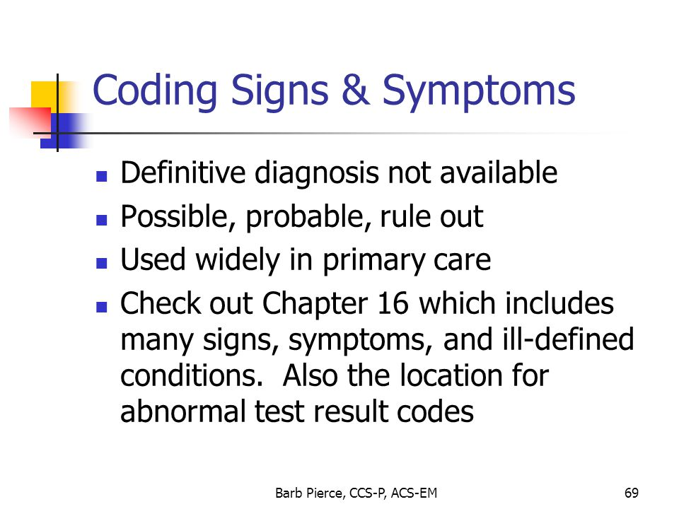 Coding Signs & Symptoms