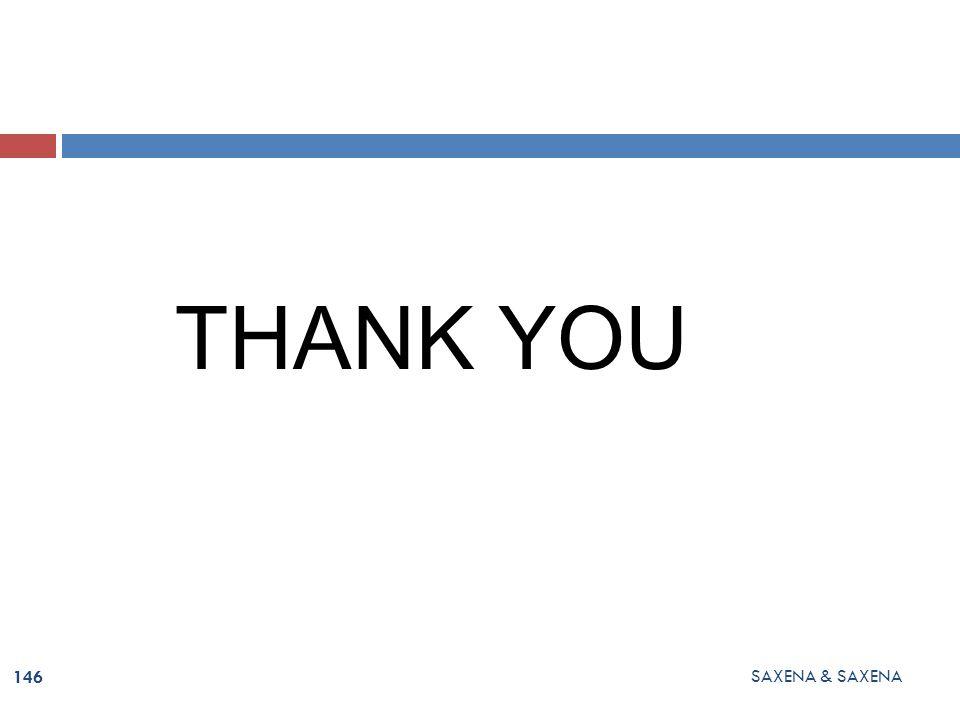 THANK YOU SAXENA & SAXENA