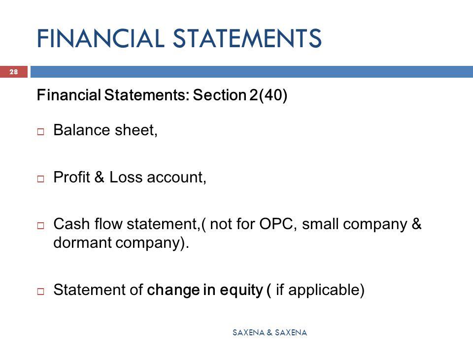 FINANCIAL STATEMENTS Financial Statements: Section 2(40)