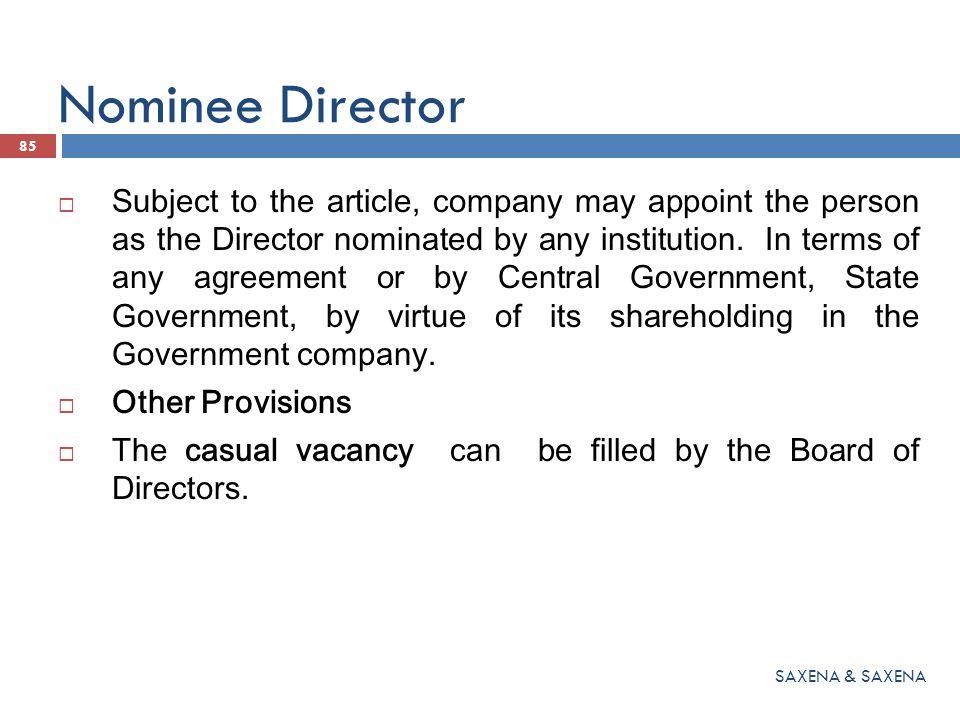 Nominee Director