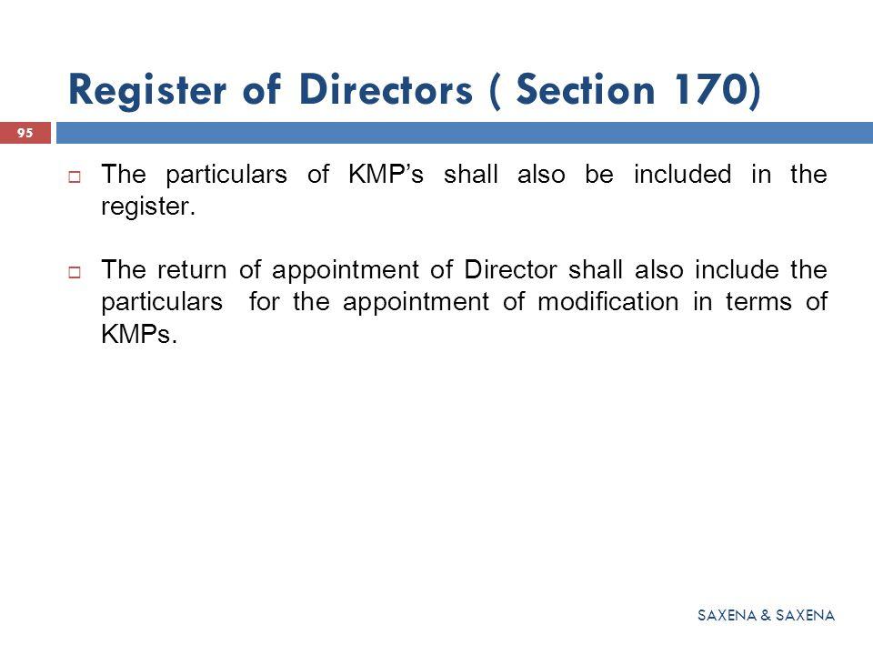 Register of Directors ( Section 170)