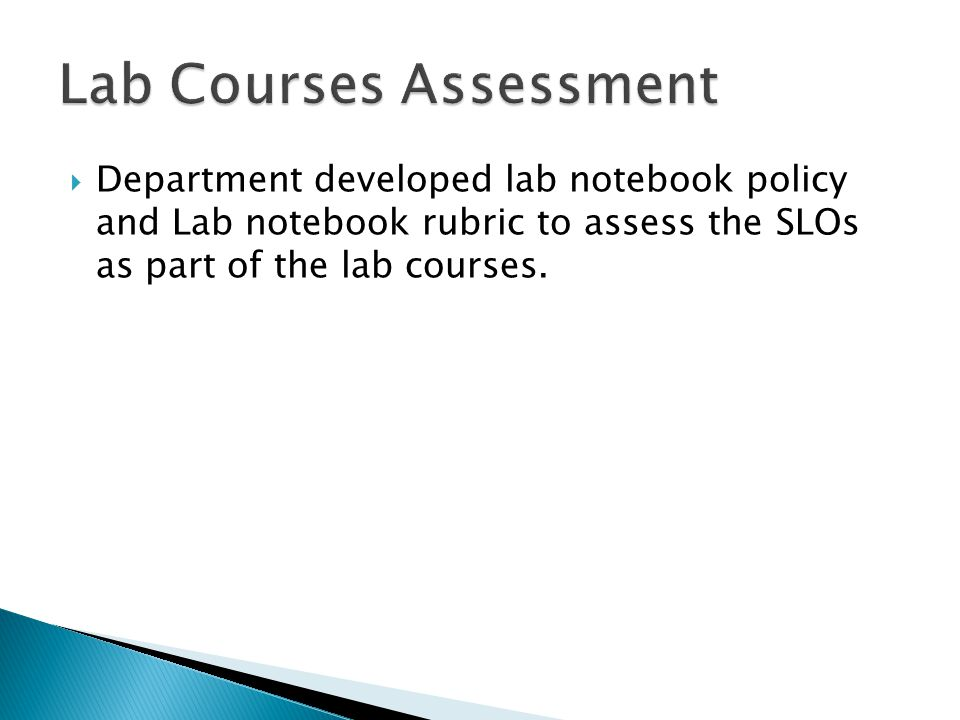 Lab Courses Assessment