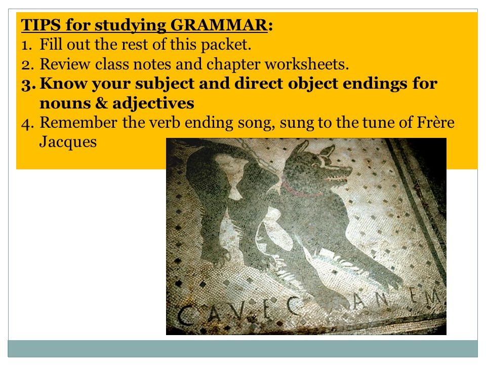 TIPS for studying GRAMMAR: