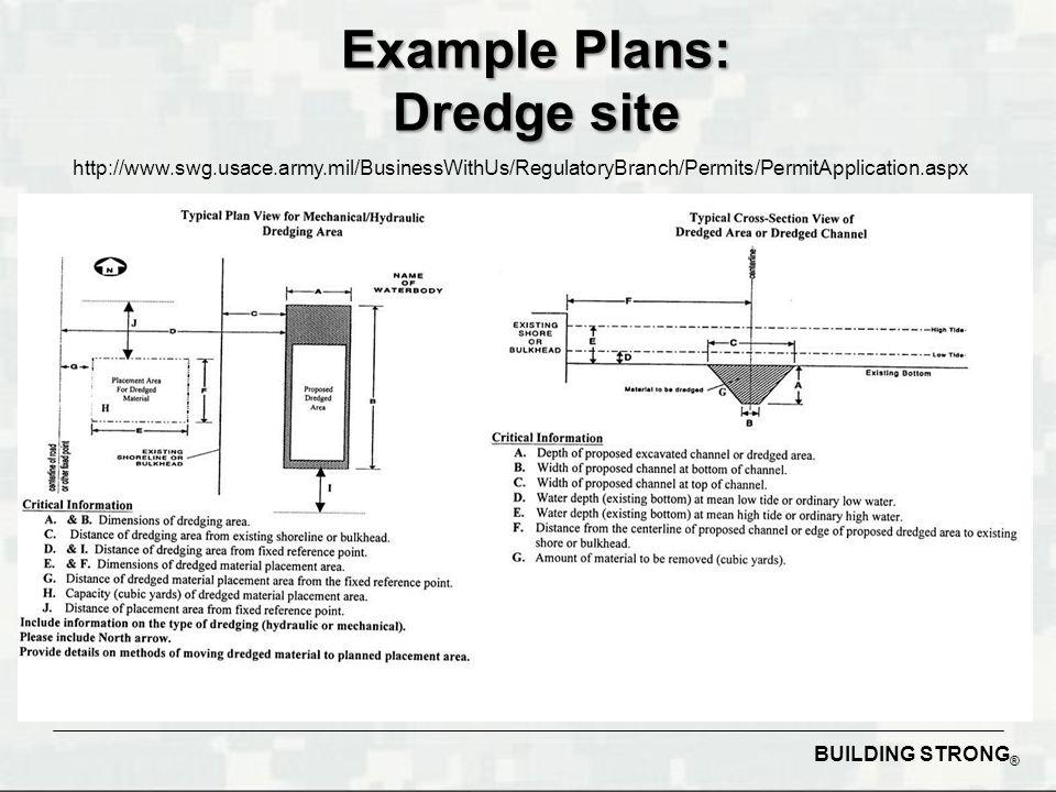 Example Plans: Dredge site