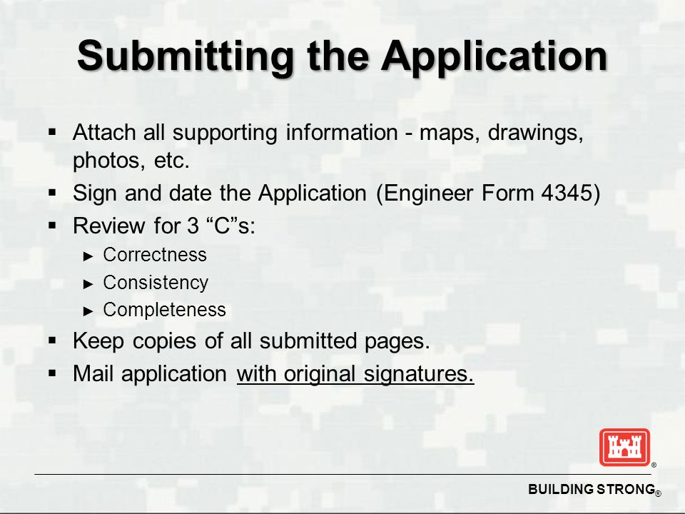 Submitting the Application