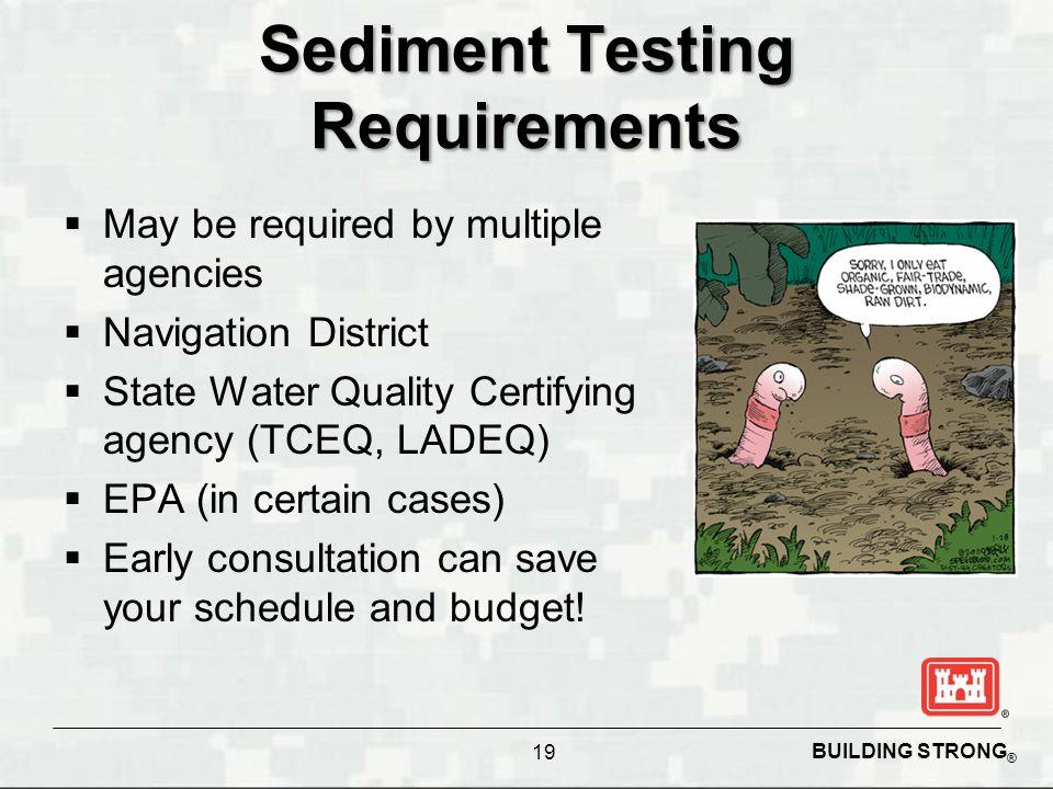 Sediment Testing Requirements