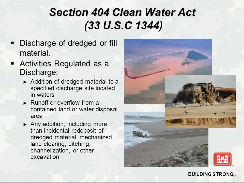 Section 404 Clean Water Act (33 U.S.C 1344)