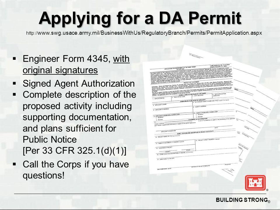 Applying for a DA Permit