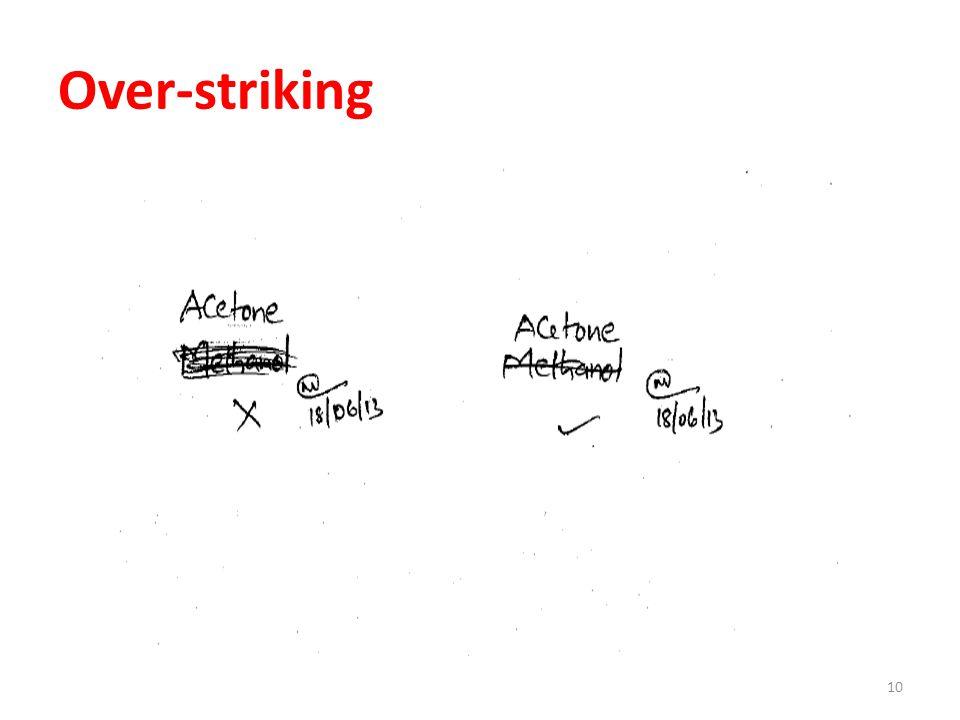 Over-striking