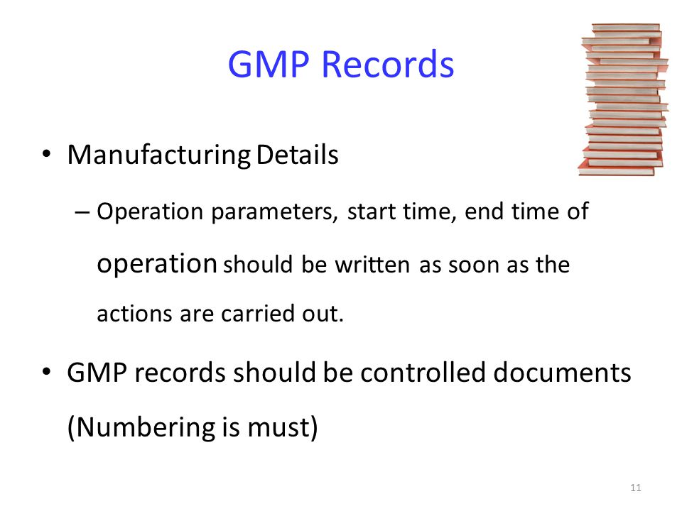 GMP Records Manufacturing Details