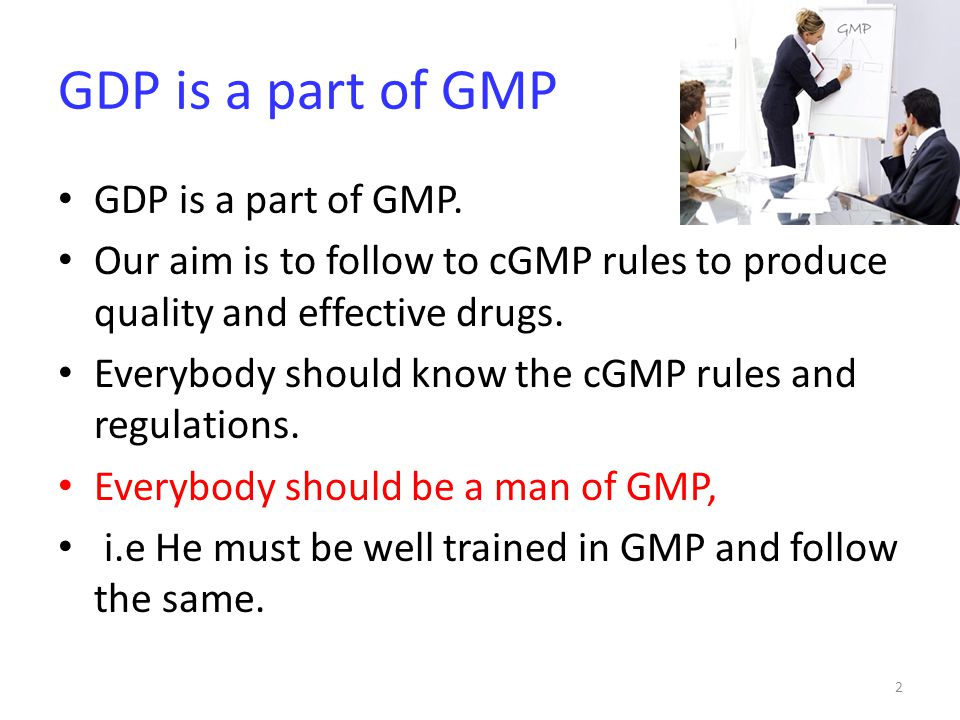 GDP is a part of GMP GDP is a part of GMP.