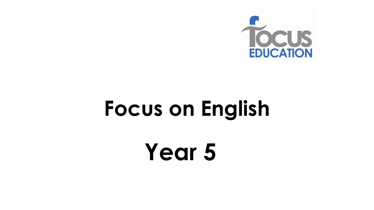 Focus on English Year 5