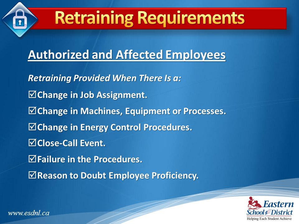 Retraining Requirements