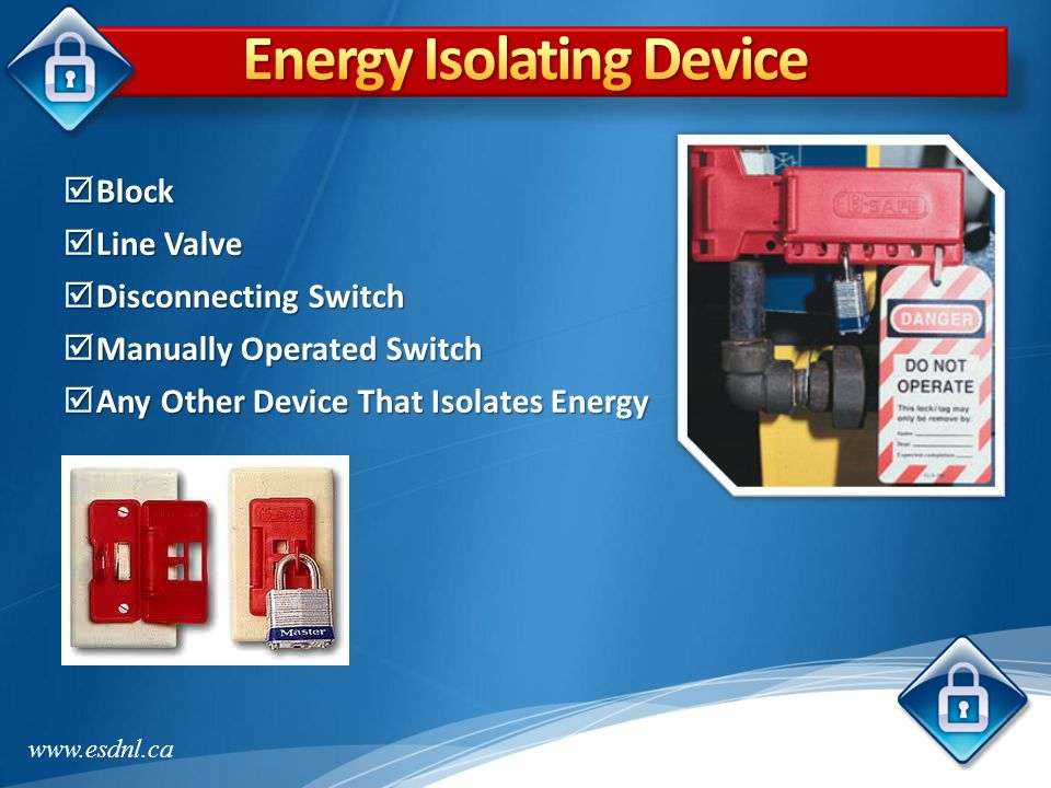 Energy Isolating Device