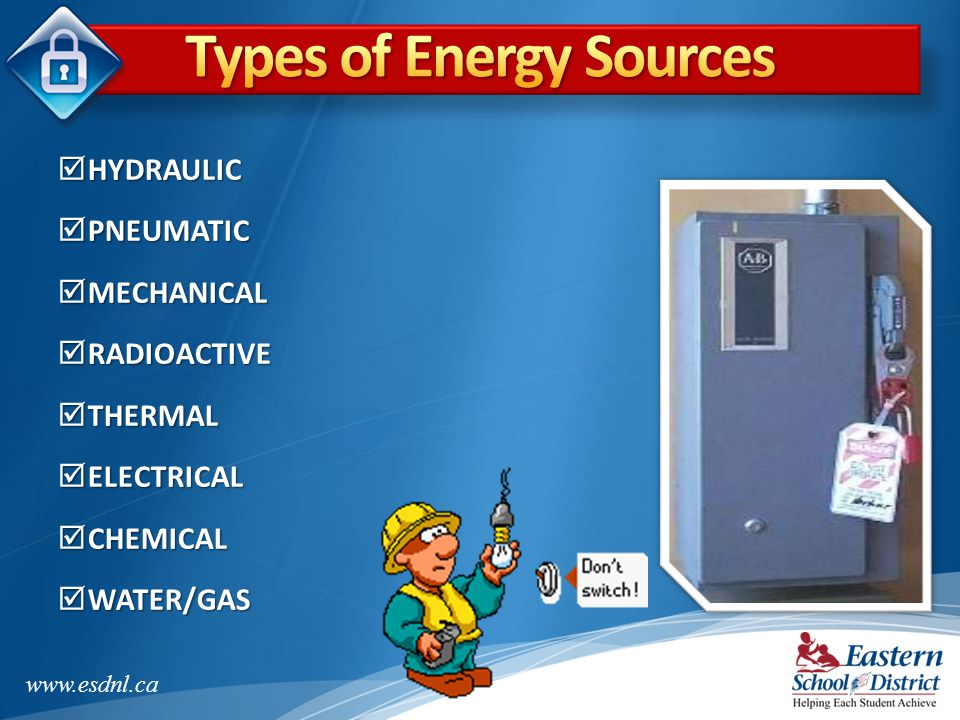Types of Energy Sources