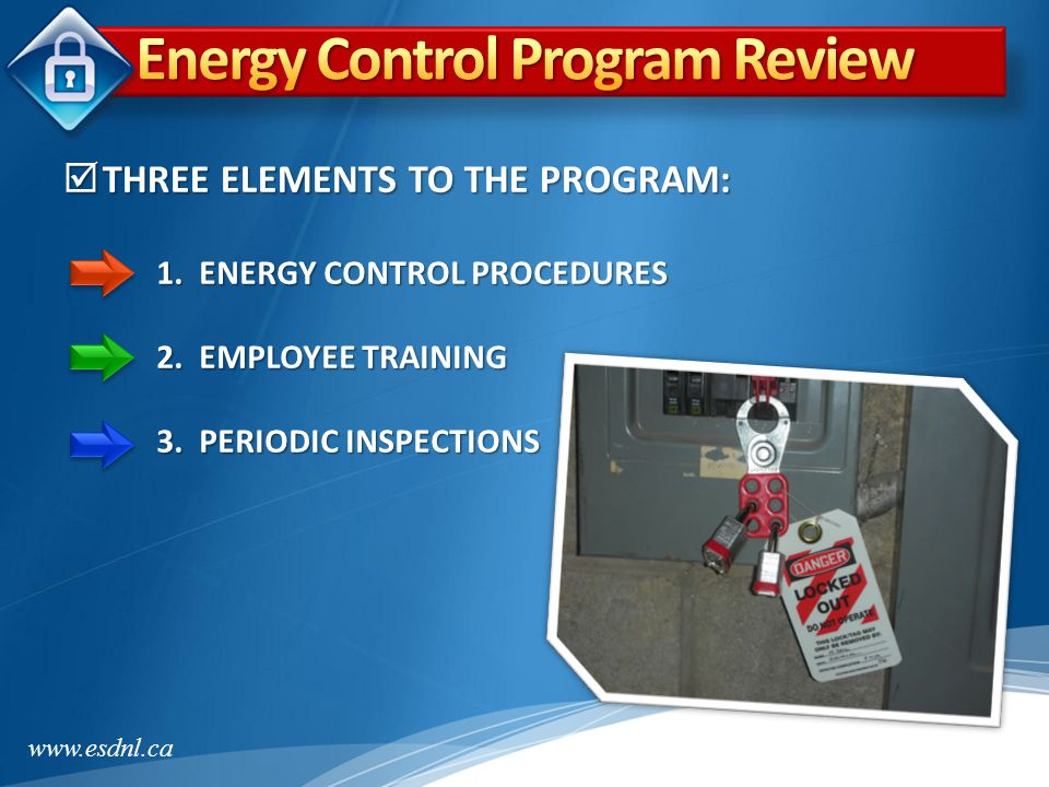 Energy Control Program Review