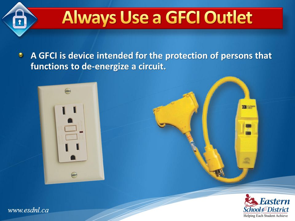 Always Use a GFCI Outlet