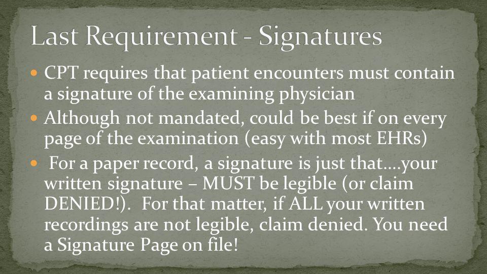 Last Requirement - Signatures