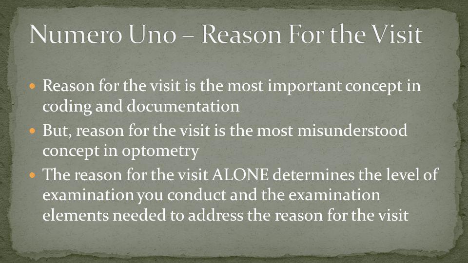 Numero Uno – Reason For the Visit