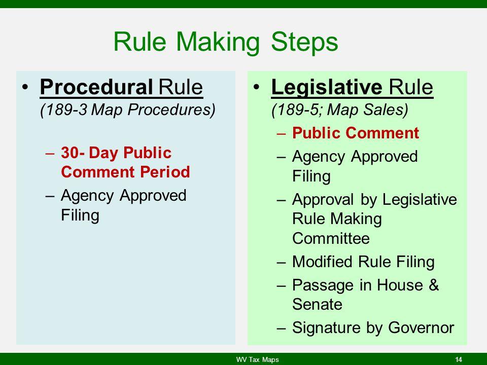 Rule Making Steps Procedural Rule (189-3 Map Procedures)
