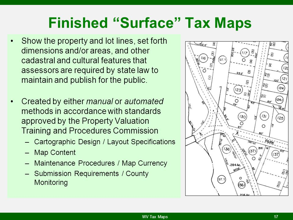 Finished Surface Tax Maps