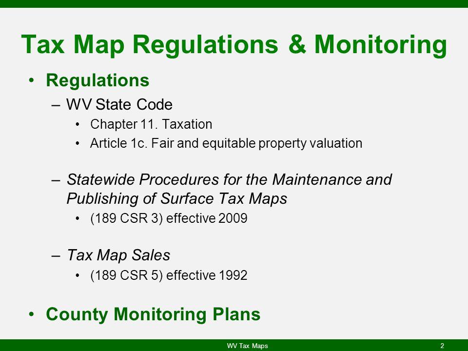 Tax Map Regulations & Monitoring