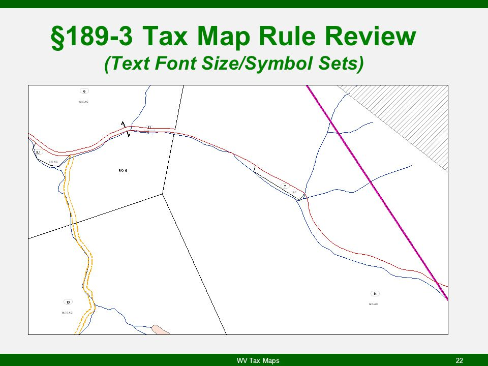 §189-3 Tax Map Rule Review (Text Font Size/Symbol Sets)