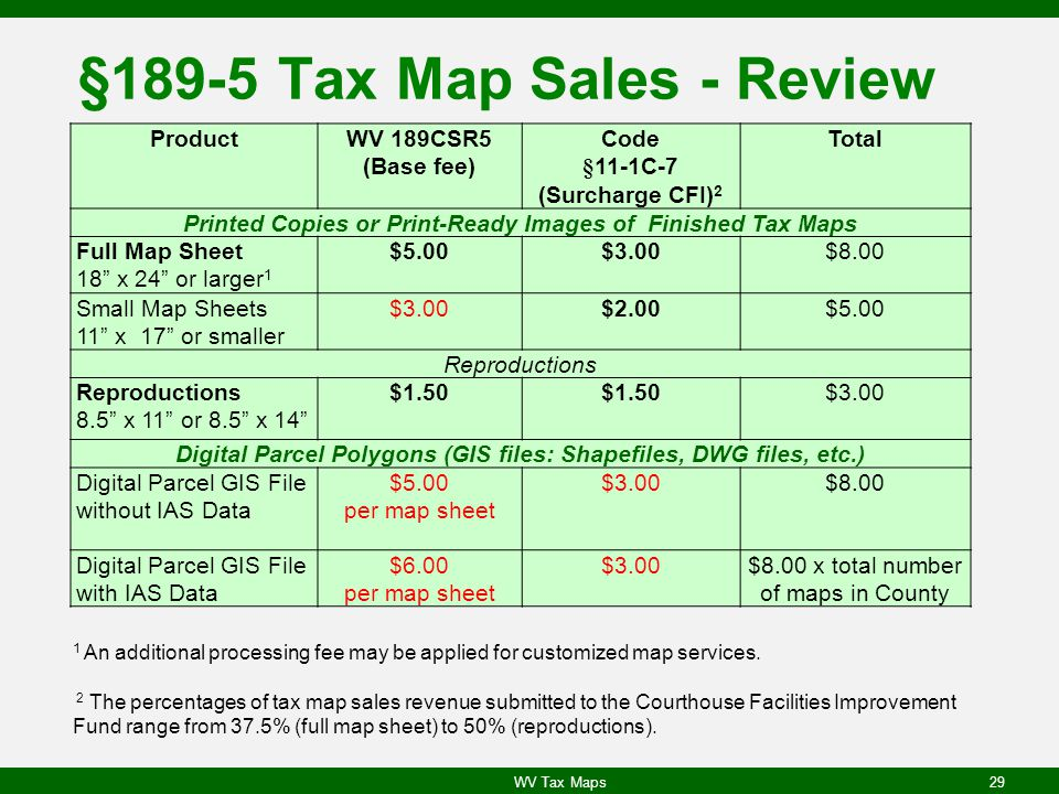 §189-5 Tax Map Sales - Review