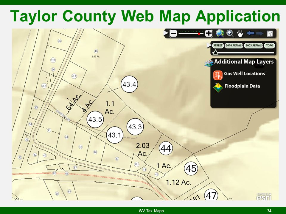Taylor County Web Map Application