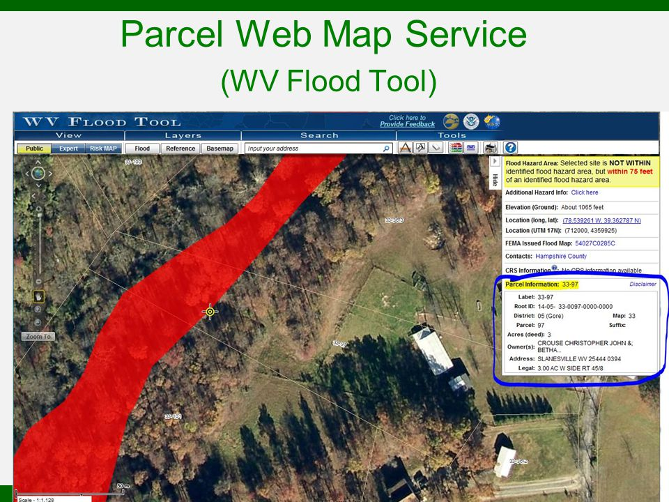 Parcel Web Map Service (WV Flood Tool)