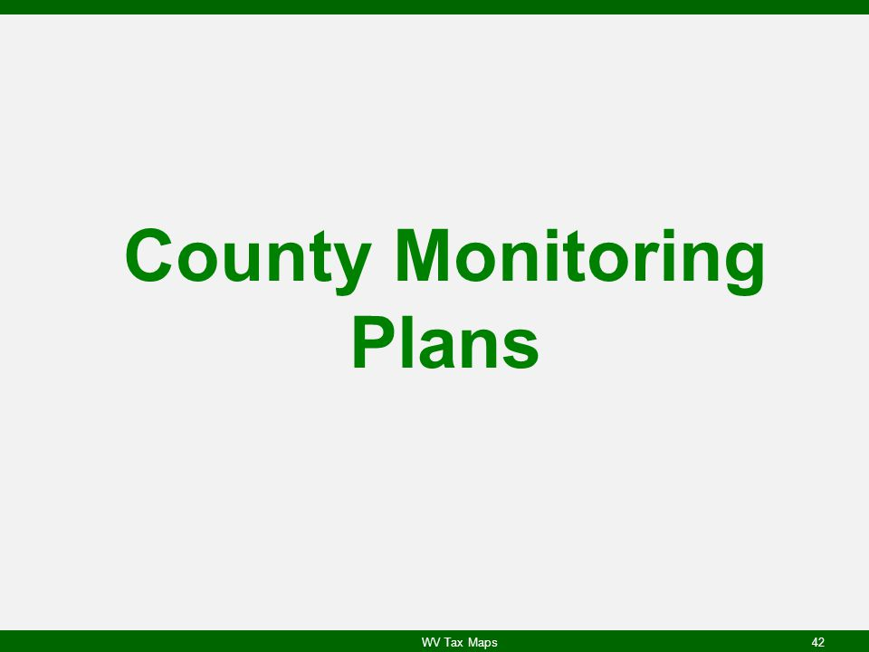 County Monitoring Plans