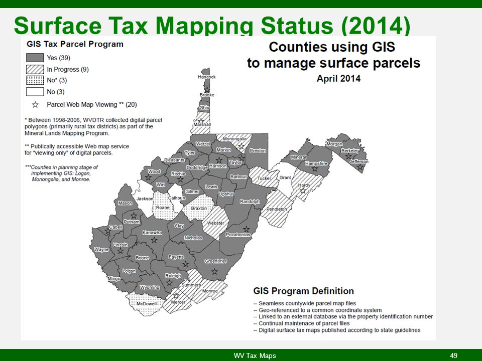 Surface Tax Mapping Status (2014)