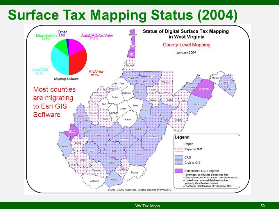 Surface Tax Mapping Status (2004)