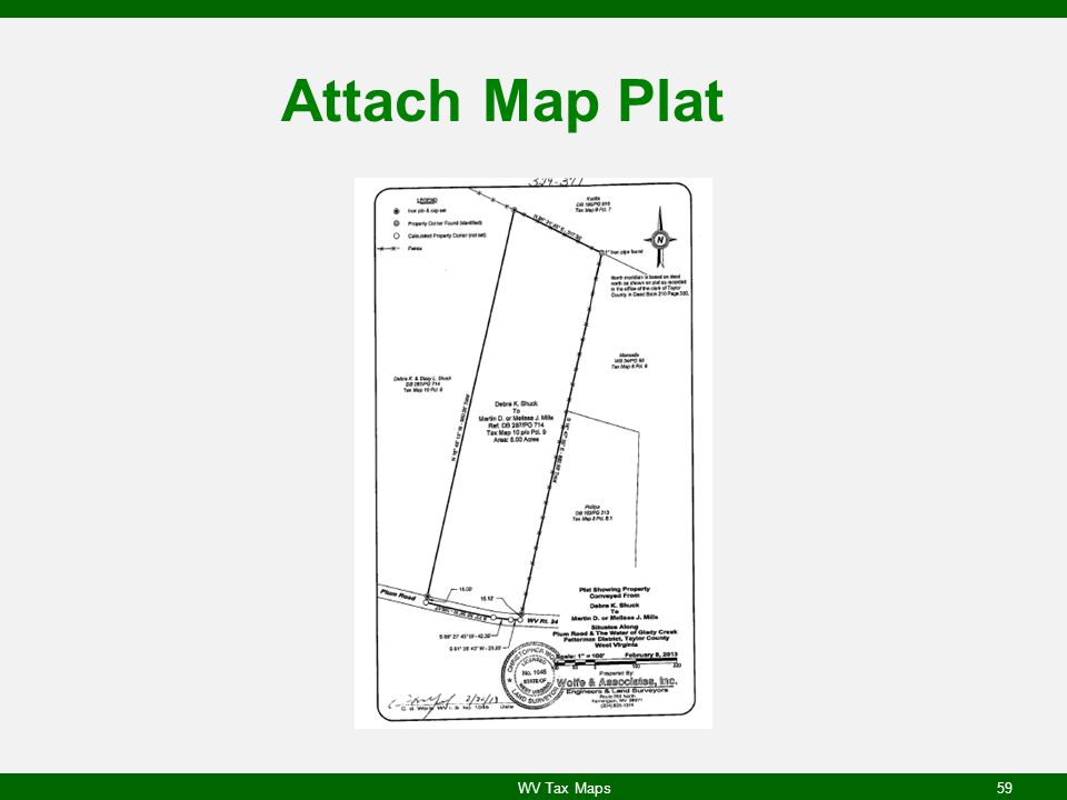 Attach Map Plat WV Tax Maps