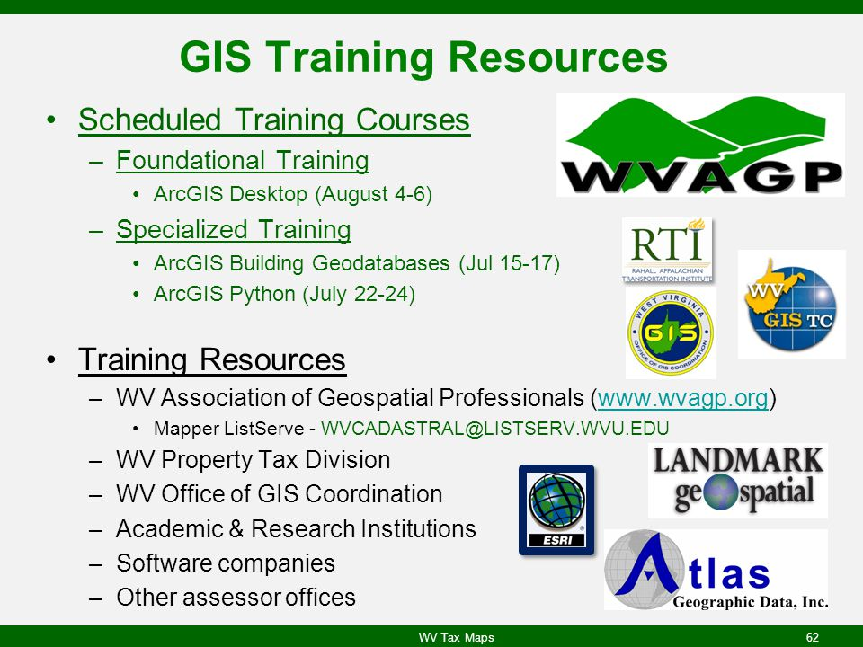 GIS Training Resources