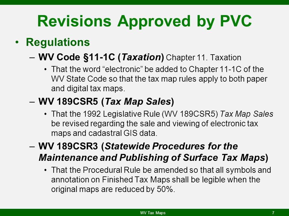 Revisions Approved by PVC