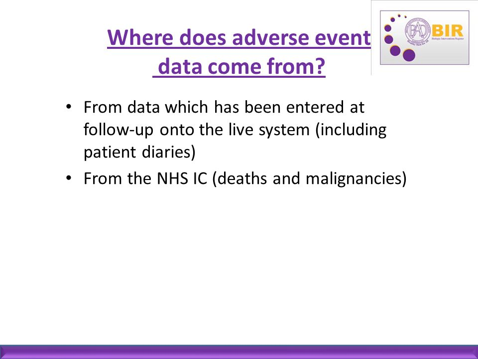 Where does adverse event data come from