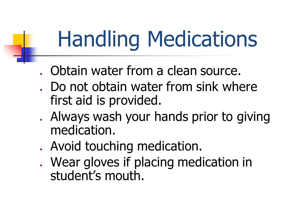 Handling Medication Tablets require cutting should be cut by the parent and sent to school.
