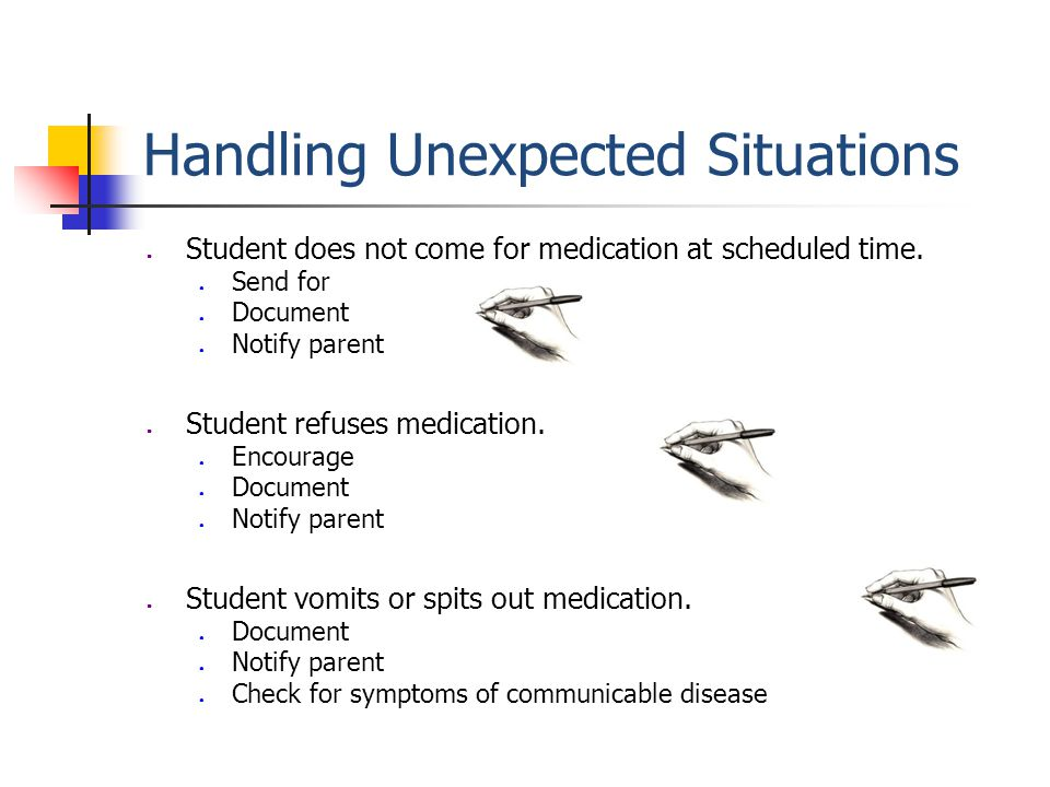 Medication Errors Report medication errors immediately to school nurse, building administrator, and parent.