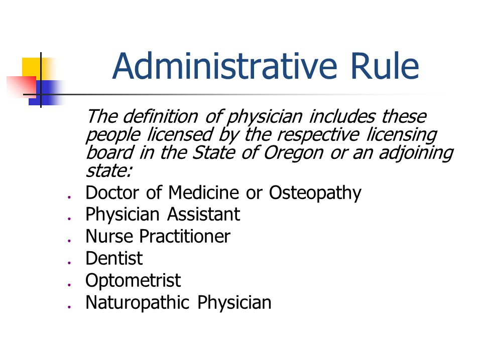 Administrative Rule Separates prescription and non-prescription medication. Excludes dietary/food supplements.