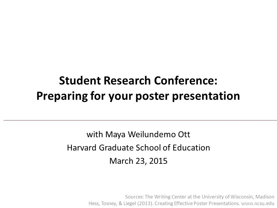 Student Research Conference: Preparing for your poster presentation