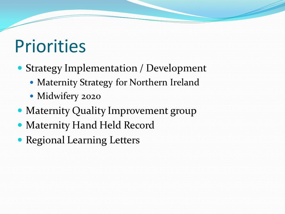 Priorities Strategy Implementation / Development