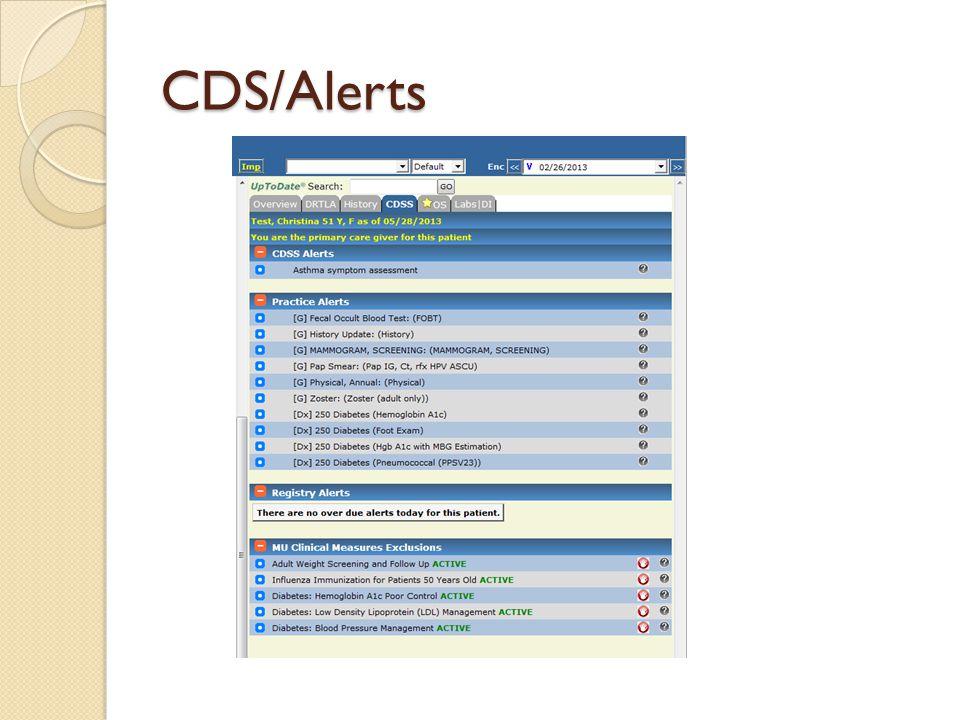 CDS/Alerts